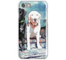 Three Labrador Retriever Dogs iPhone Case/Skin