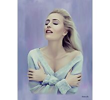 Gillian Anderson painting  Photographic Print