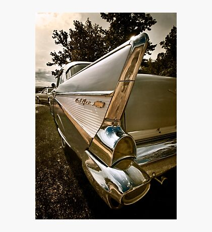 1957 Chevy Belair - Fin Detail Photographic Print