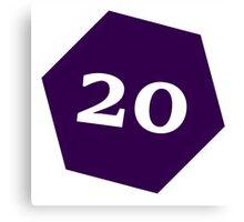 D20 - Purple Canvas Print