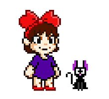 Kiki and Jiji Pixel Art Photographic Print