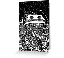 The House that Doubt Built Greeting Card