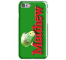 Matthew with Parrot iPhone Case/Skin