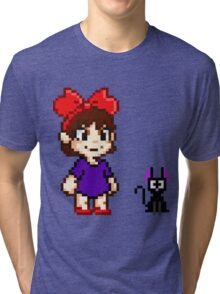 Kiki and Jiji Pixel Art Tri-blend T-Shirt