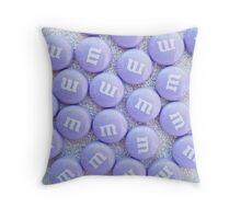 Purple Glittery M&Ms Throw Pillow