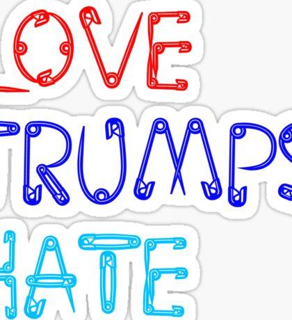 love trumps hate safetypin Sticker