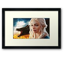 FIRE: Mother of Dragons Framed Print