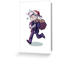 Space Dad Santa Greeting Card
