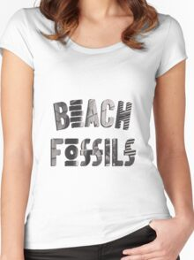 Beach Fossils What A Pleasure Logo Women's Fitted Scoop T-Shirt