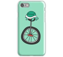 Unicycle Turtle iPhone Case/Skin