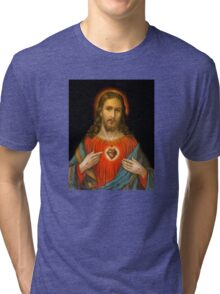 Sacred Heart c1899 Germany Tri-blend T-Shirt