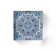 Snowflake fractal pattern Acrylic Block
