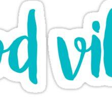 good vibes trendy free spirit laptop sticker sorority  Sticker