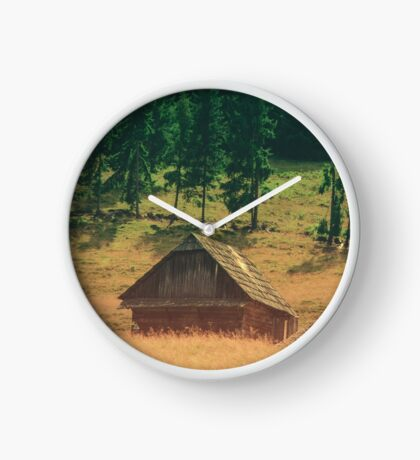 Lonely Cottage Clock