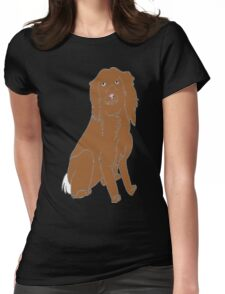 Alfie the spaniel Womens Fitted T-Shirt