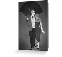 In the Rain Greeting Card