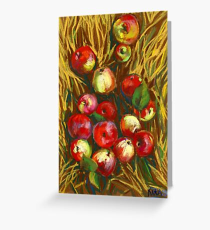 Apples In The Grass Greeting Card