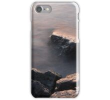 Rough and Soft - Rocks on the Beach at Sunrise iPhone Case/Skin