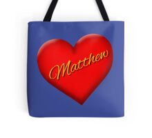 Matthew with Heart Tote Bag