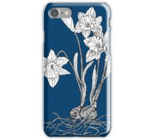 Daffodils on Midnight Blue Background iPhone Case/Skin