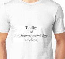 Jon Snow Knows Nothing Unisex T-Shirt