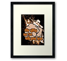 Hitting My Fist Framed Print