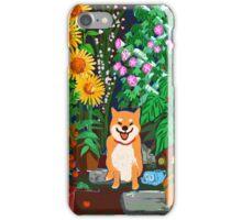 Shiba in a Garden iPhone Case/Skin