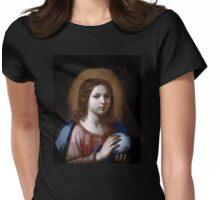 The Boy Jesus Holding the World  Womens Fitted T-Shirt