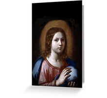 The Boy Jesus Holding the World  Greeting Card