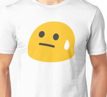 Face with Cold Sweat Drop Unisex T-Shirt