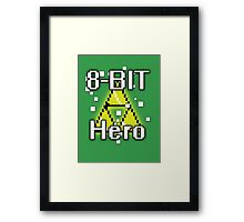 8-Bit Hero Framed Print