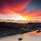 Snapper Sunrise - Snapper Rocks Gold Coast Australia by Beth  Wode