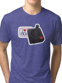 I Love The 80s Eighties Retro Vintage Gamer T-Shirt Tri-blend T-Shirt
