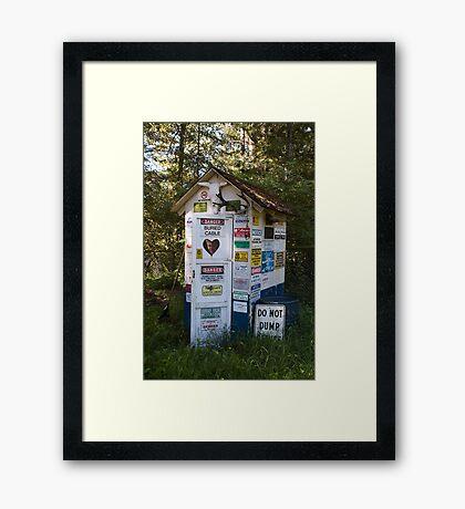 Dump Site Framed Print