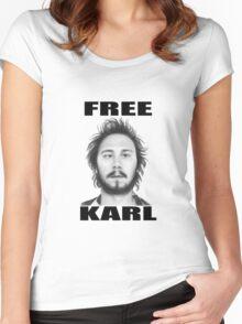 workaholics free karl show shirt Women's Fitted Scoop T-Shirt