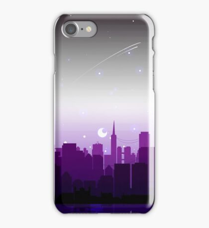 Asexual Pride Cityscape iPhone Case/Skin