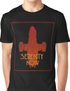 Serenity Now Firefly Silhouette  Graphic T-Shirt