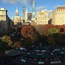 Aerial View, Union Square, New York City by lenspiro