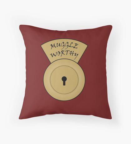 Muggle worthy Throw Pillow