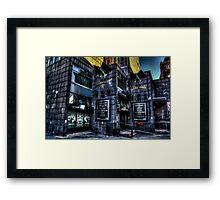 Gotham Town Framed Print