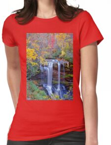 Dry Falls In Fall Womens Fitted T-Shirt