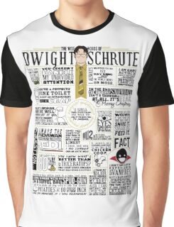 The Wise Words of Dwight Schrute (Light Tee) Graphic T-Shirt