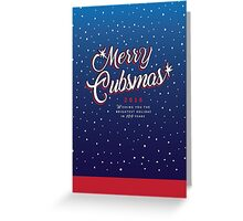 Merry Cubsmas Holiday Greeting Card