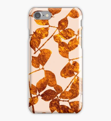 fall golden leaves iPhone Case/Skin
