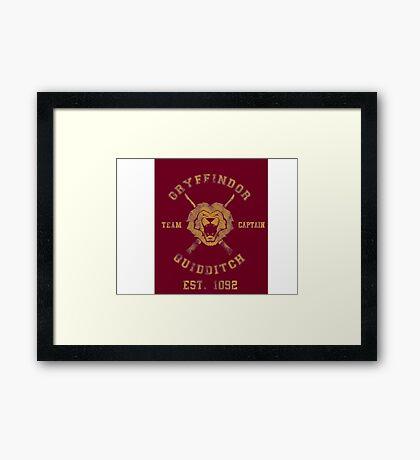 Gryffindor Quidditch - Team Captain Framed Print