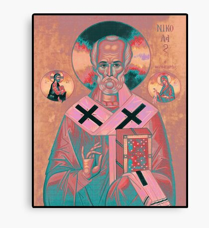 Saint Nicholas Icon Canvas Print