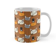 Serious cats in top hats pattern Mug