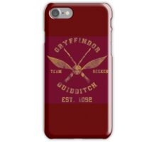 Gryffindor Quidditch - Team Seeker iPhone Case/Skin