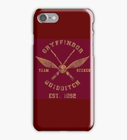 Gryffindor Quidditch - Team Seeker iPhone Case/Skin