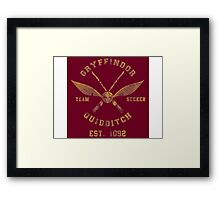 Gryffindor Quidditch - Team Seeker Framed Print